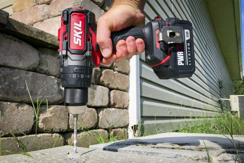 Hammer Drill vs Drill | Skil PWRCore20 Heavy-Duty Brushless Hammer Drill Concrete Drill