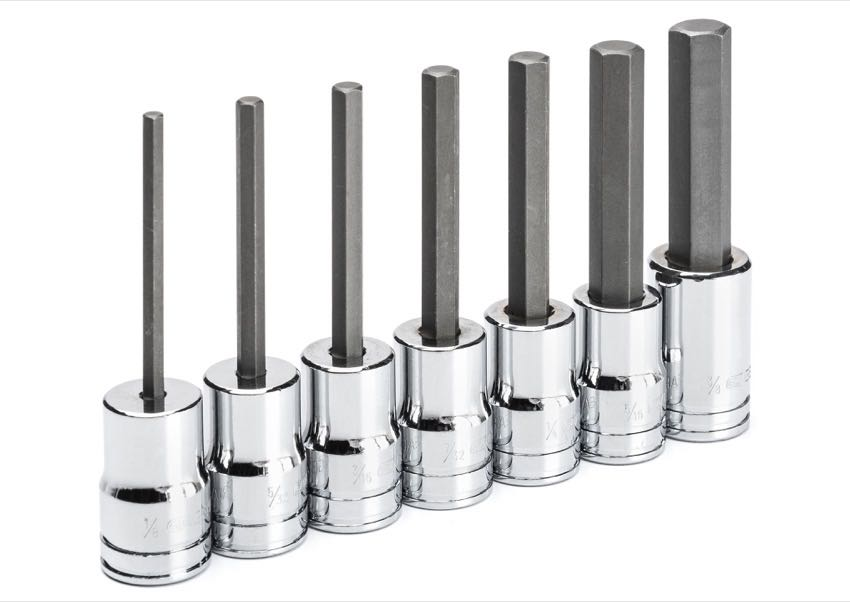 Gearwrench mid-length hex bit sockets