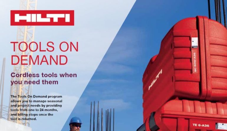 Hilti tools on demand