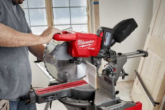 Milwaukee M18 12-in sliding miter saw standing base
