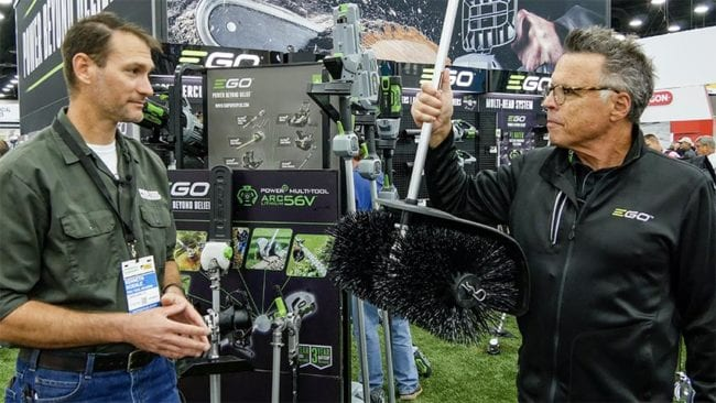 Best EGO Outdoor Power Equipment at GIE 2019 - Multi-Head Accessories