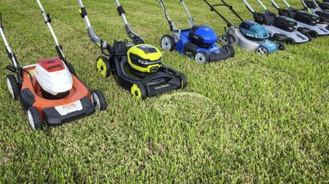 best battery-powered lawn mower grass rings