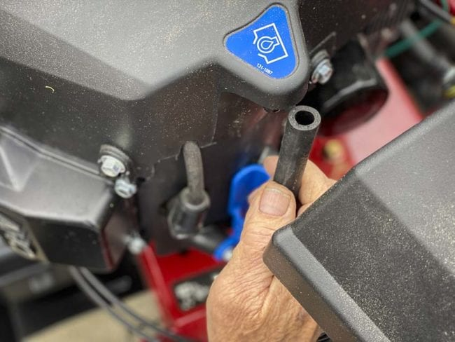 Toro Timecutter zero-turn tool-free oil change