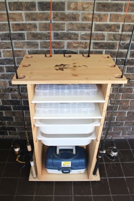 Diy Fishing Rod Holder With Storage Pro Tool Reviews