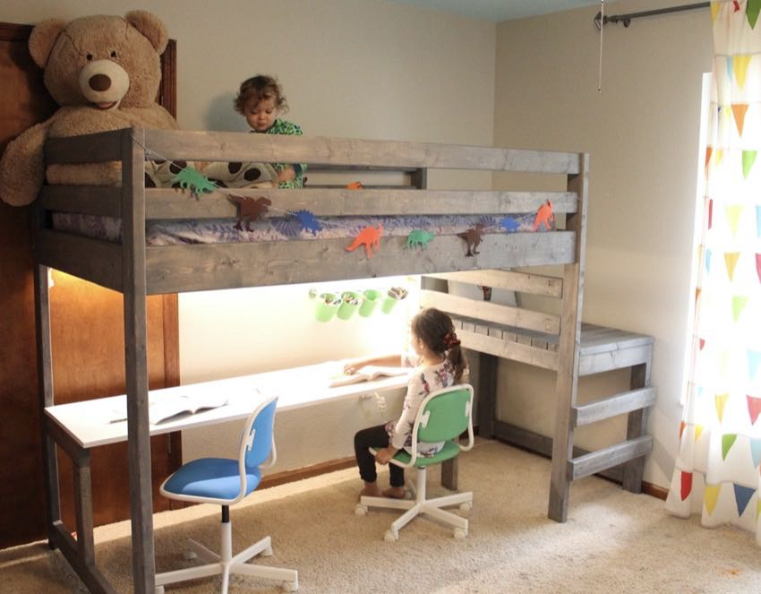 Making A Diy Loft Bed With Desk Pro Tool Reviews