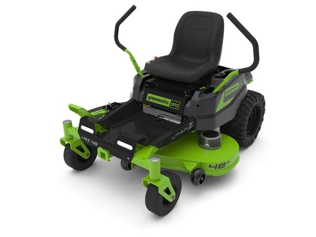 Best Electric Riding Lawn Mower: Greenworks 48-Inch ZTR