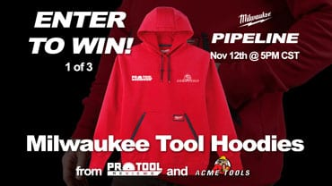 Enter to win a Milwaukee Logoed Hoodie!