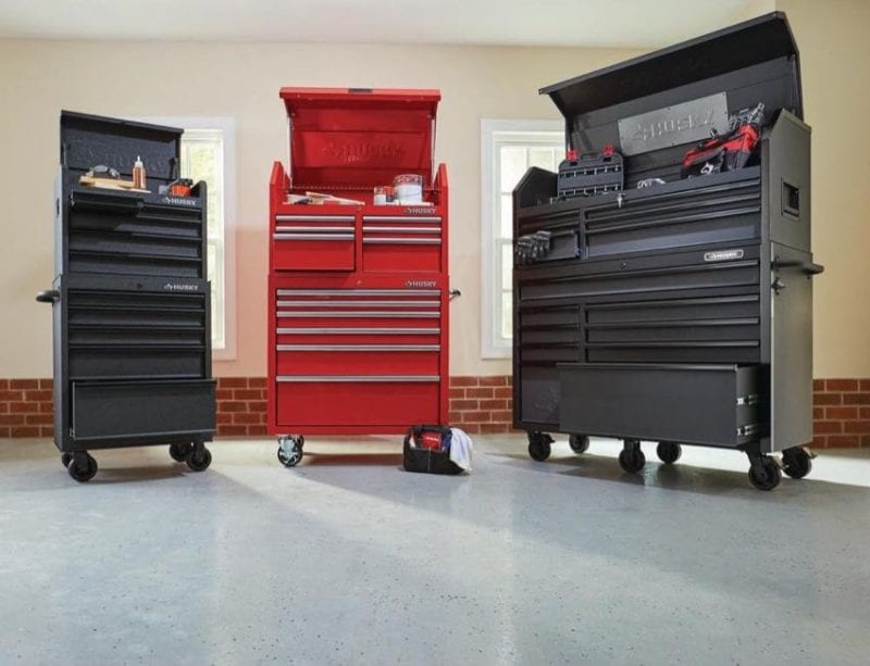 Husky Best Stackable Tool Chests and Cabinets