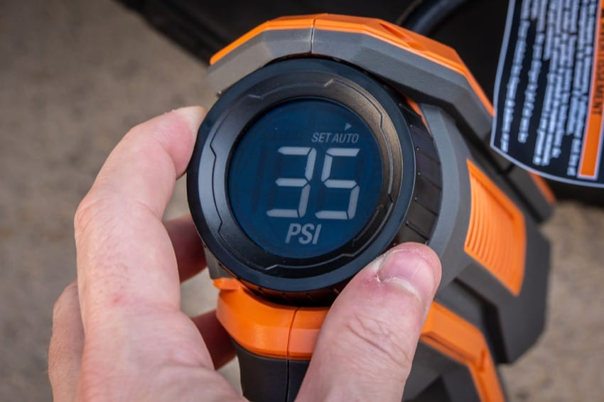 Ridgid 18V digital tire inflator