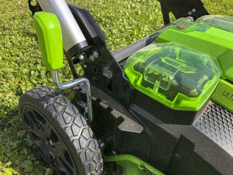 Greenworks Pro 60V 25-Inch Self-Propelled Lawn Mower Height Adjustment