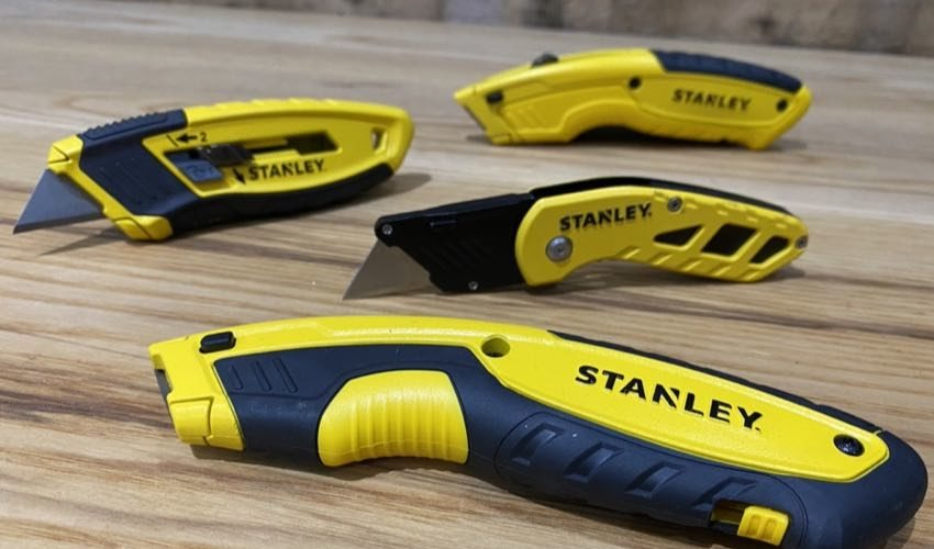 Stanley yellow utility knives