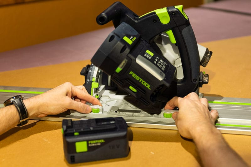 Festool TSC 55 KEB track adjustments