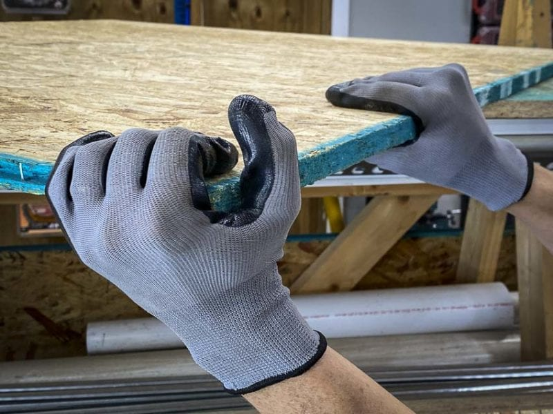 Firm Grip Nitrile Coated Gloves best for wood
