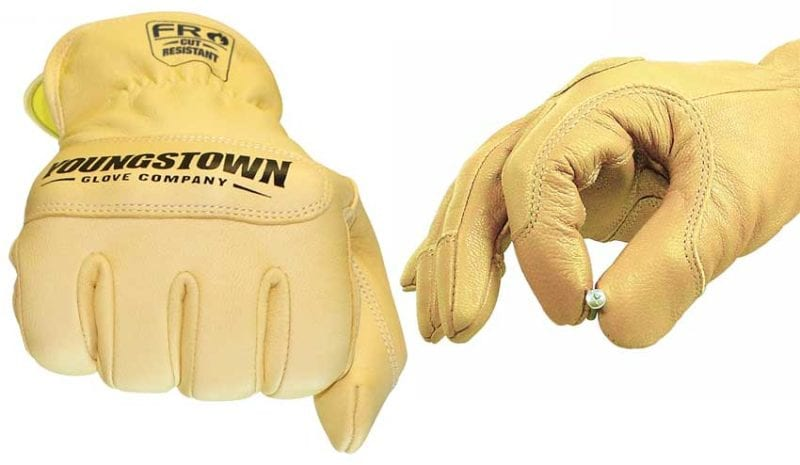 youngstown fr leather kevlar gloves