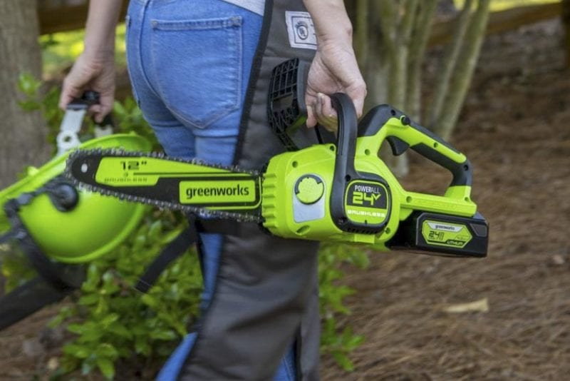 Greenworks Chainsaw Reviews | Greenworks 24V 12-Inch Brushless Chainsaw