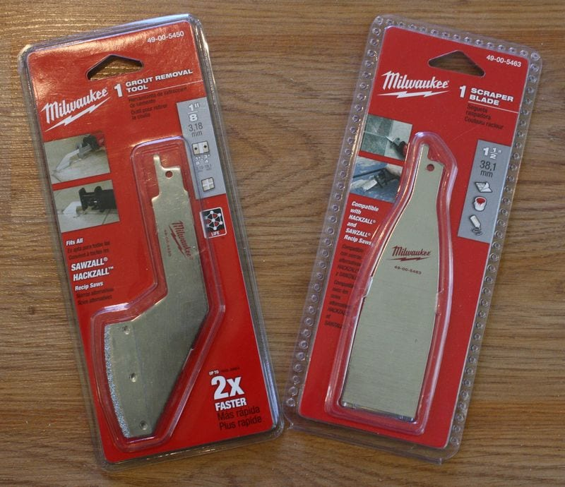 Milwaukee Scraper and Grout Removal Blades Review