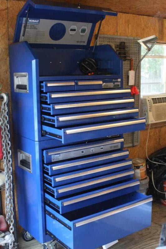 Kobalt Tool Cabinet >> Kobalt Steel Tool Chest With Pioneer Stereo System Review