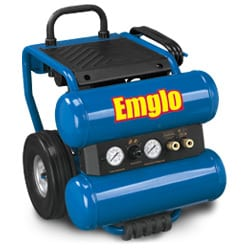 Emglo EM810-4M 4-Gallon Dolly-Style Twin Tank Air Compressor Preview
