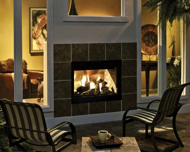 Hht Twilight Modern 2 Sided Gas Fireplace