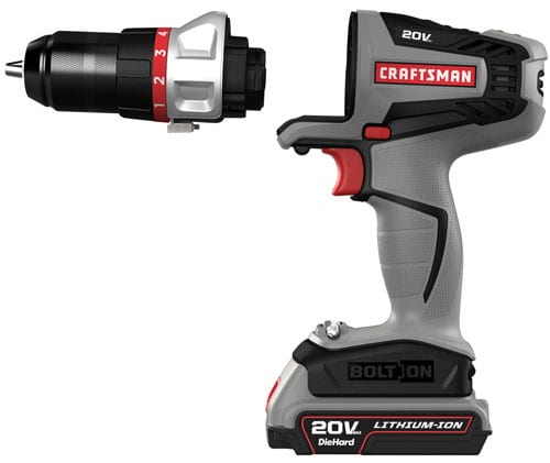 Craftsman Bolt-on 20V Max System Drill-Driver Preview